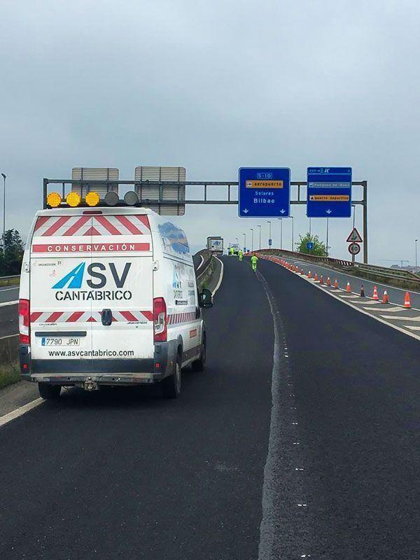 ASV realiza trabajos esenciales en la Autovía A8.